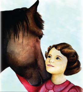 Queen Young with horse